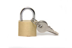 A lock with the keys Stock Image