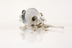 Lock with keys Royalty Free Stock Photography