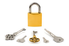 Lock and keys Stock Photography