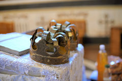 lock kyrktar metall två Arkivbild