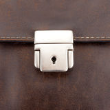 Lock on leather business case Royalty Free Stock Photo