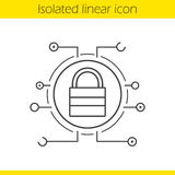 Lock linear icon Stock Photography