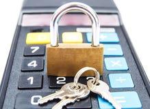 Lock and lock calculator Stock Image