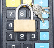 Lock and lock calculator Royalty Free Stock Image