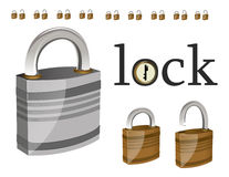 Lock and logo Stock Photos