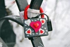 Lock love Stock Image