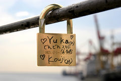 Lock of love stock photos