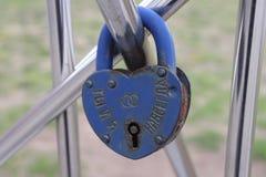 Lock of love stock photography