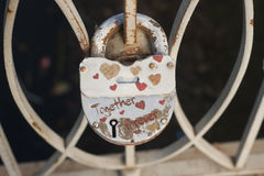 Lock of love - together forever Stock Photos