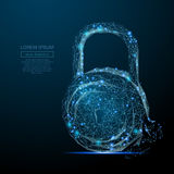 Lock low poly blue Stock Photo