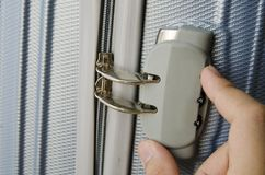 Lock Luggage Stock Photo