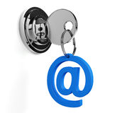 Lock mail Royalty Free Stock Photography