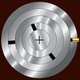 Lock mechanism. Illustration of the interior mechanism of a tumbler lock Stock Image