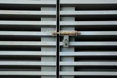 Lock on metal door Royalty Free Stock Photography