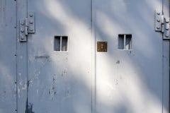 Lock on metal doors - background Stock Photography