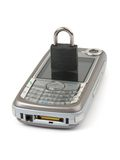 Lock and mobile phone - security concept Stock Image