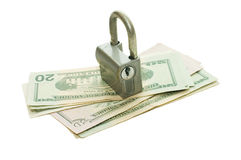 The lock on money Royalty Free Stock Photography