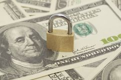 Lock and money Royalty Free Stock Photography