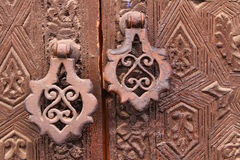 Lock on a moroccan door Royalty Free Stock Photo