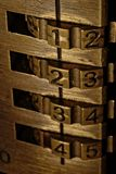 Lock with number code. Macro photography Stock Images
