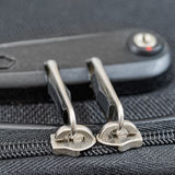 Lock with numbers on suitcase zipper Royalty Free Stock Image
