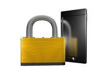 Lock object in studio Royalty Free Stock Image