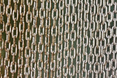 Lock Old chain link fence Royalty Free Stock Images