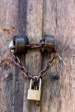 Lock in old door Stock Image