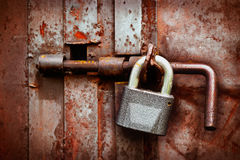 The lock on the old gate Royalty Free Stock Image