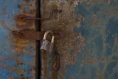Lock and old hook Royalty Free Stock Image