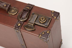 The lock on an old vintage suitcase Stock Photo