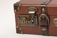 The lock on an old vintage suitcase Royalty Free Stock Photo