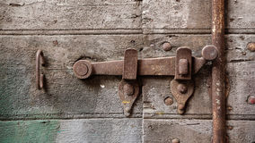 Lock of an old wooden door Stock Photography