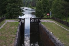 Lock On Augustow Canal - Poland Stock Images