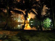 Lock på natten Arkivbilder