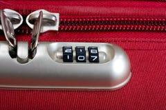 Lock password. Password number lock bag and zipper texture red Stock Image
