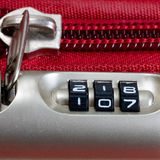 Lock password number in bag Stock Image