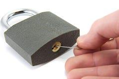 Lock picking. Royalty Free Stock Photo