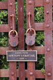 The lock on the prison gate. Royalty Free Stock Photos