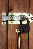 Lock protected door Royalty Free Stock Photography
