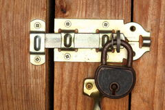 Lock protected door Royalty Free Stock Images