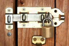 Lock protected door Stock Photography