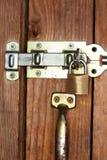 Lock protected door Royalty Free Stock Photos