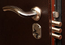 Lock with pull out bolts Royalty Free Stock Photos