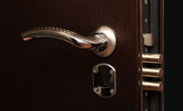 Lock with pull out bolts Royalty Free Stock Photography