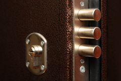 Lock with pull out bolts close-up Stock Photography