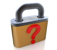 Lock and question Royalty Free Stock Images