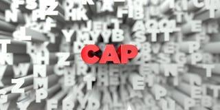 LOCK - Röd text på typografibakgrund - 3D framförde fri materielbild för royalty Arkivfoton