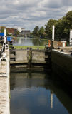 Lock on River Lea, East London Royalty Free Stock Images