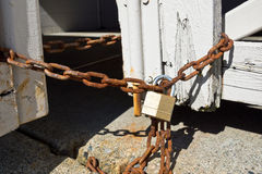 Lock with Rusty Chain Stock Photography